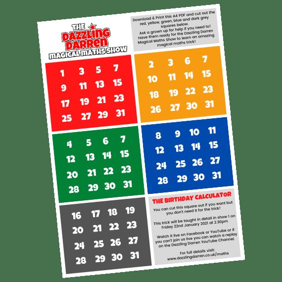 Magical Maths Show Download Sheet